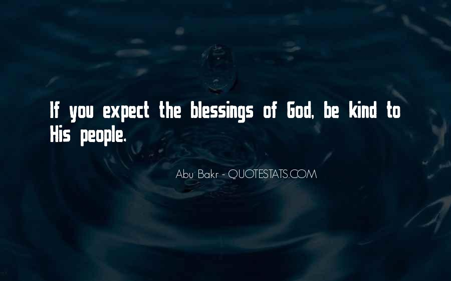 Quotes About The Blessings Of God #393617