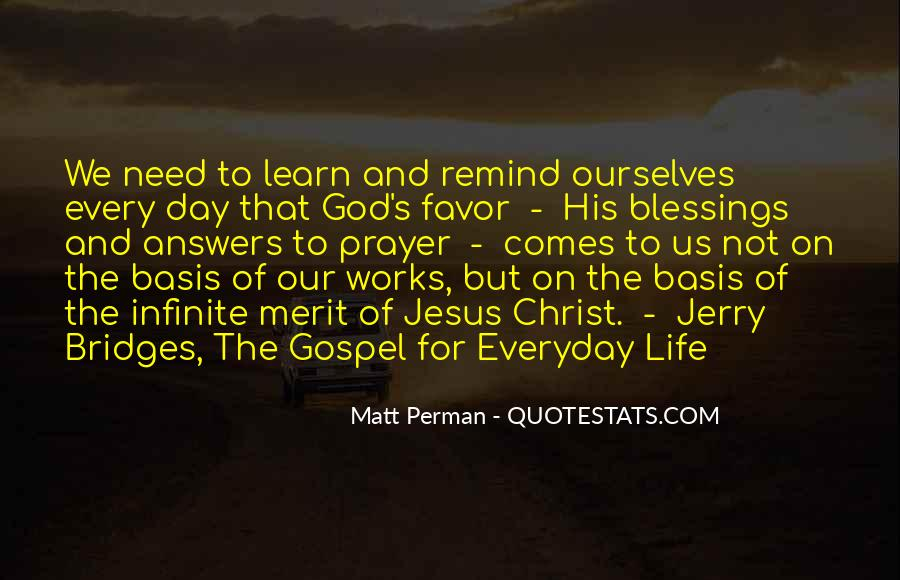 Quotes About The Blessings Of God #795596