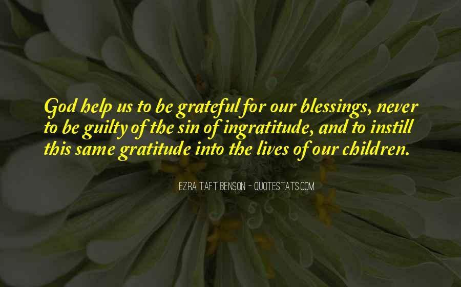 Quotes About The Blessings Of God #9550