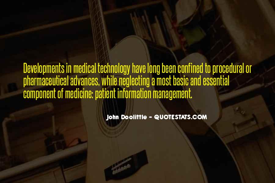 Quotes About Technology And Medicine #1640620