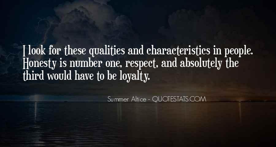 Quotes About People's Characteristics #1328895