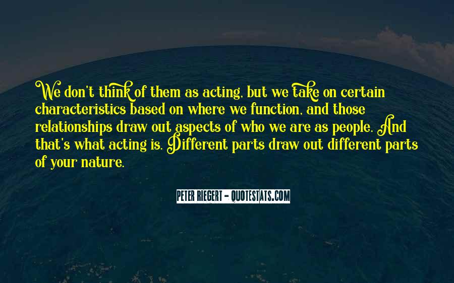 Quotes About People's Characteristics #151926