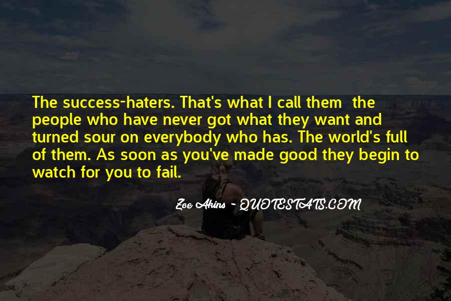 Quotes About Success And Haters #1283589