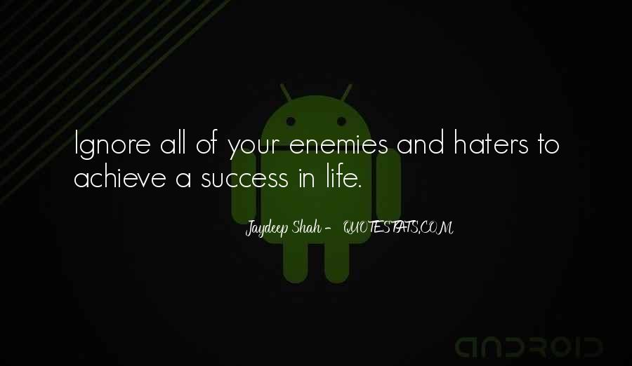 Quotes About Success And Haters #645582