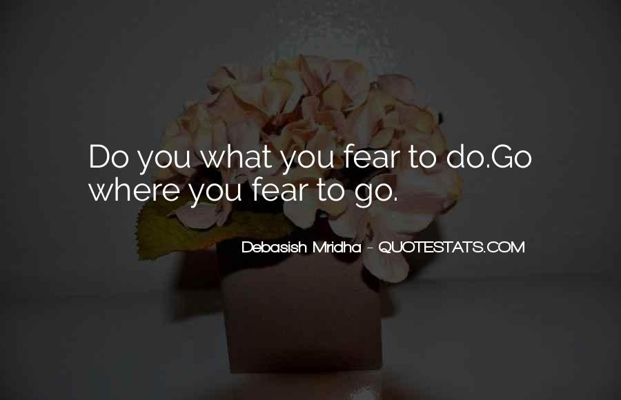 Quotes About Facing Fears #841705