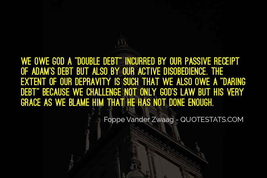 Quotes About Disobedience To God #1017335