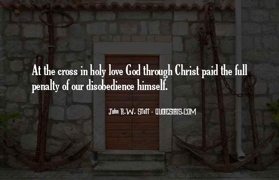 Quotes About Disobedience To God #1645772