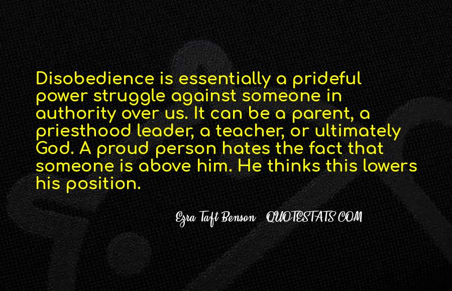 Quotes About Disobedience To God #1691995