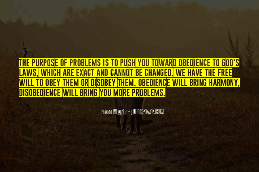 Quotes About Disobedience To God #1747295