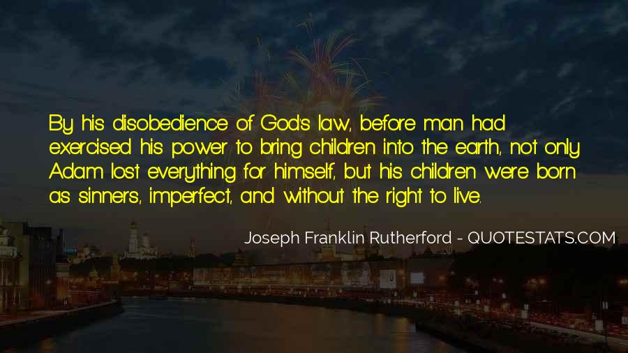 Quotes About Disobedience To God #668671