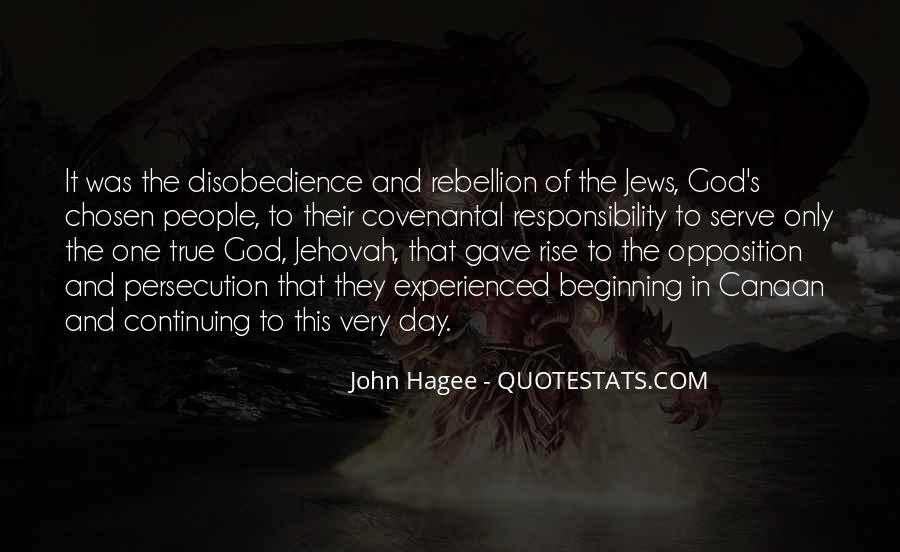 Quotes About Disobedience To God #797440