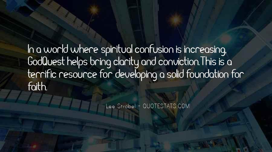 Quotes About Solid Foundation #1652857