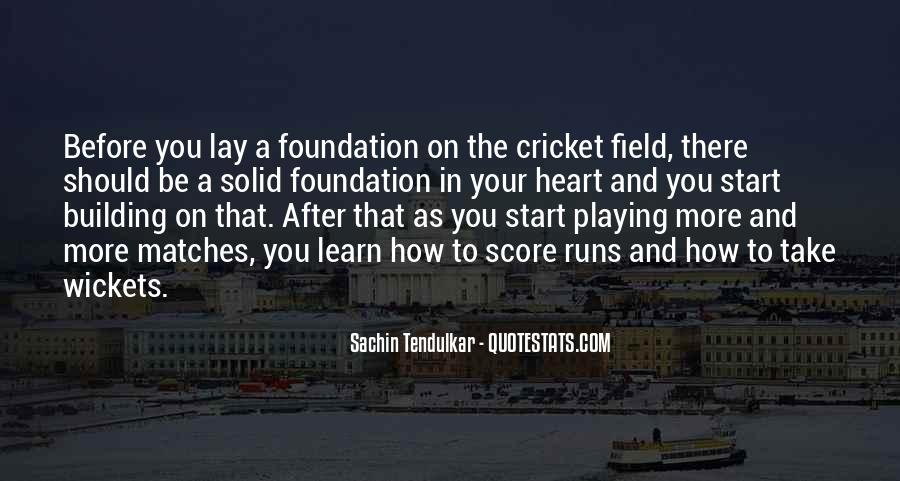 Quotes About Solid Foundation #189129
