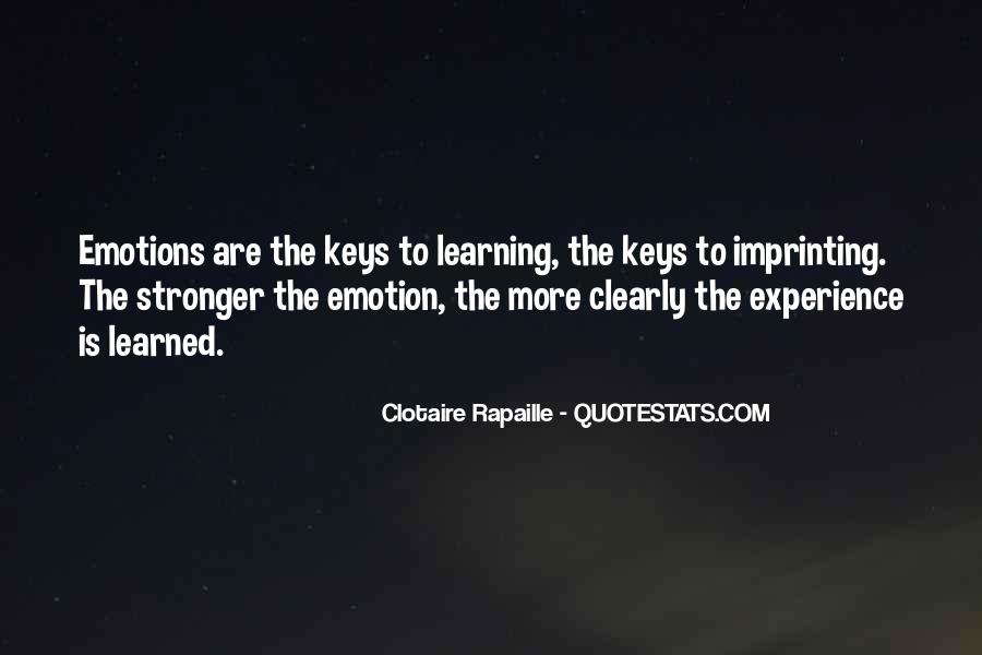 Quotes About Emotions And Learning #695450