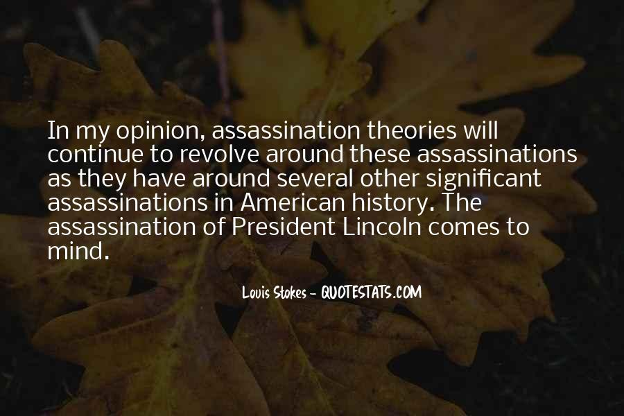 Quotes About Lincoln's Assassination #1263790