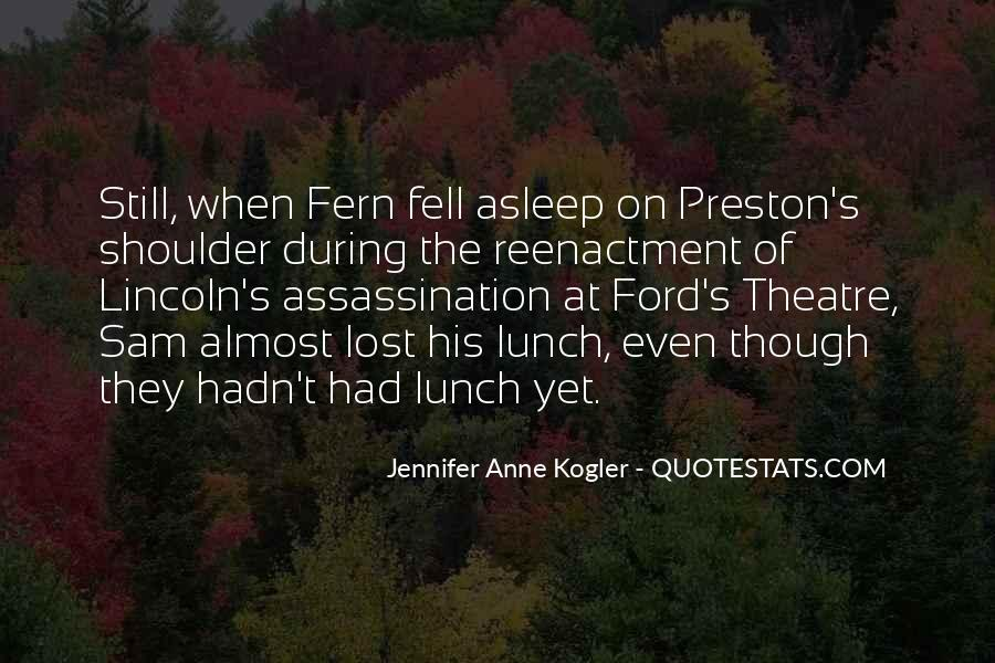 Quotes About Lincoln's Assassination #193396