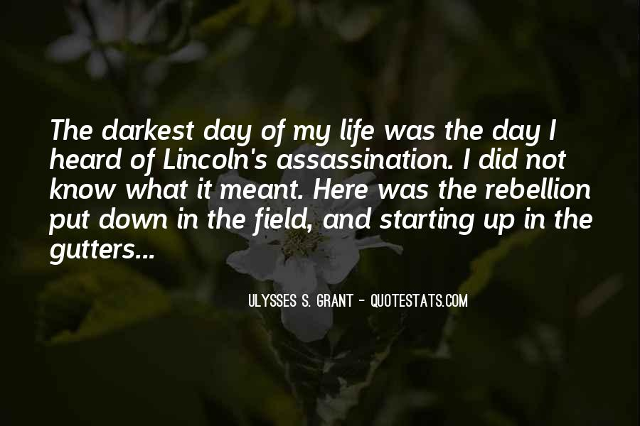Quotes About Lincoln's Assassination #431946