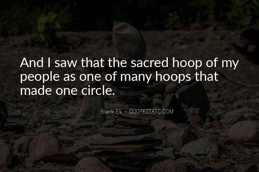 Quotes About Sacred Circles #745625