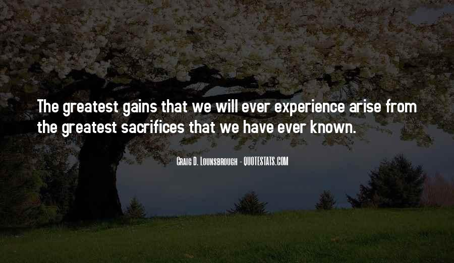 Quotes About Gains #123005