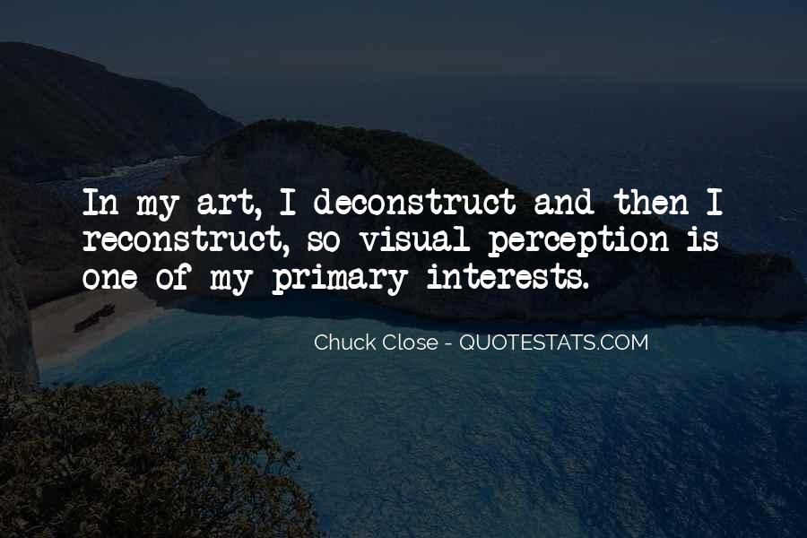 Quotes About Perception Of Art #1022897