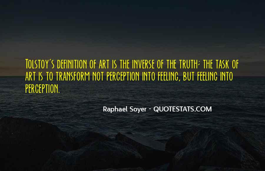 Quotes About Perception Of Art #1295338