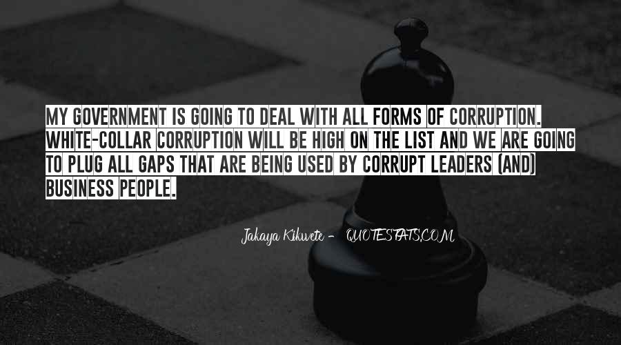Quotes About Corruption In Government #102300