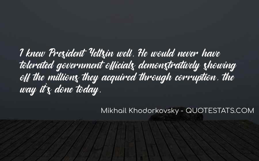 Quotes About Corruption In Government #938100