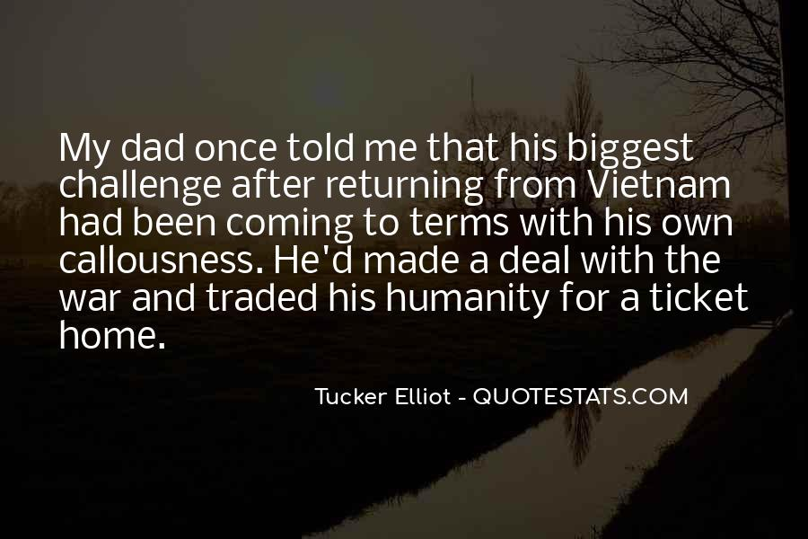 Quotes About Veterans Returning Home #706699