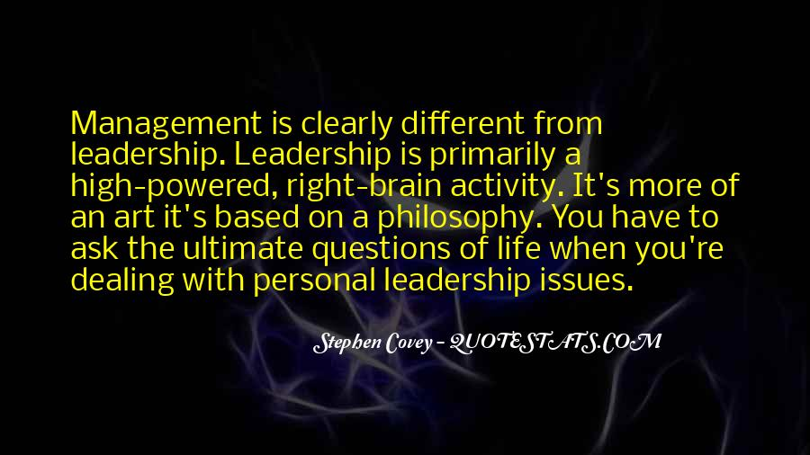 Quotes About Issues Management #973852