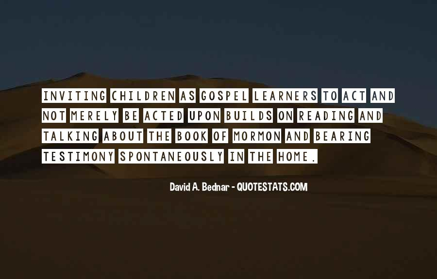 Quotes About Reading The Book Of Mormon #151379