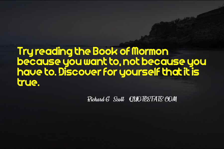 Quotes About Reading The Book Of Mormon #249362