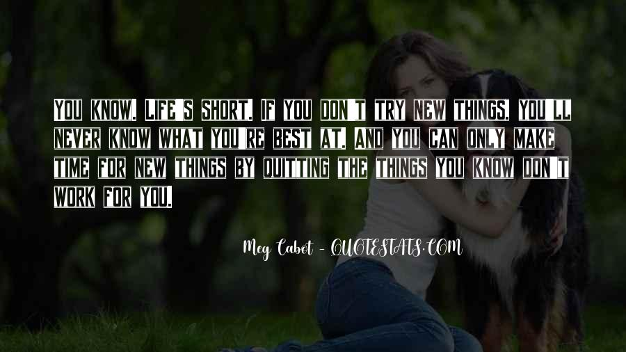 Quotes About Not Quitting Life #252933
