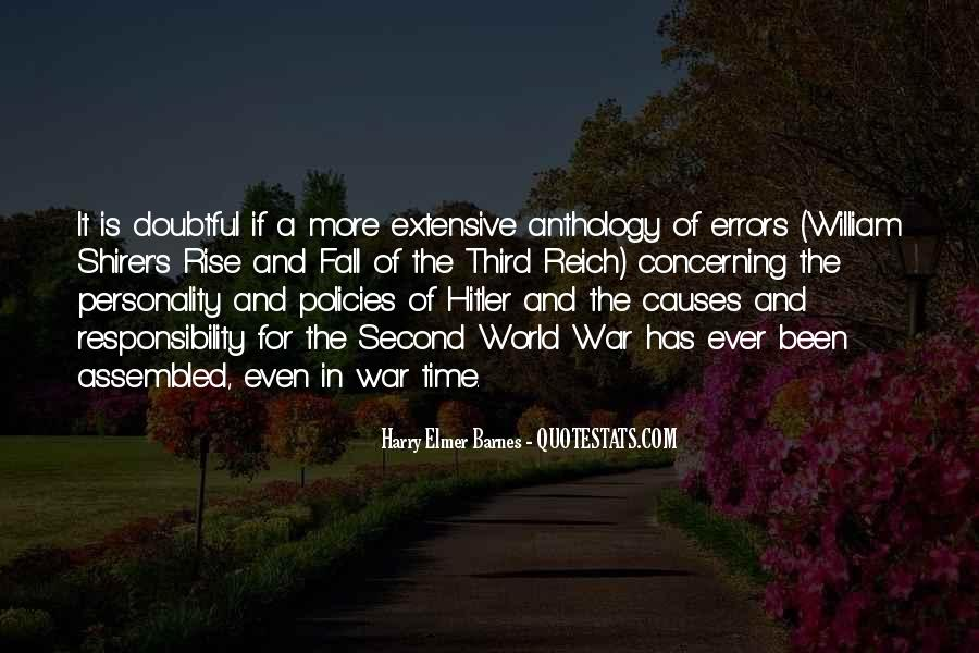 Quotes About Causes Of World War 2 #135979