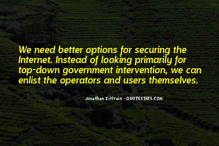 Quotes About Government Intervention #1032384