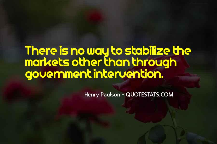Quotes About Government Intervention #1554918