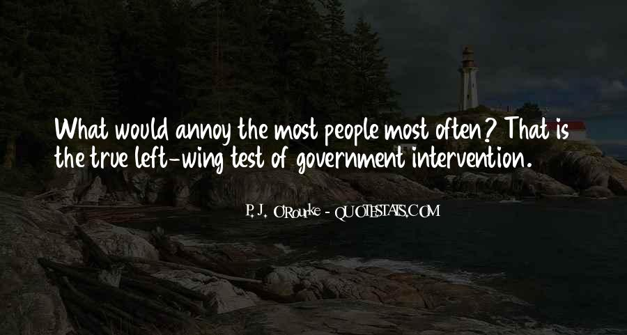 Quotes About Government Intervention #1727323