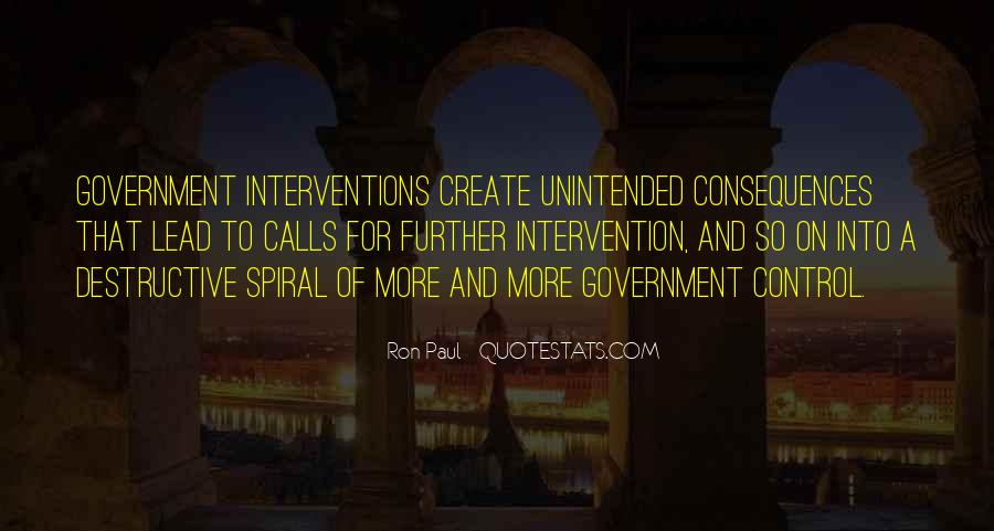 Quotes About Government Intervention #1750212