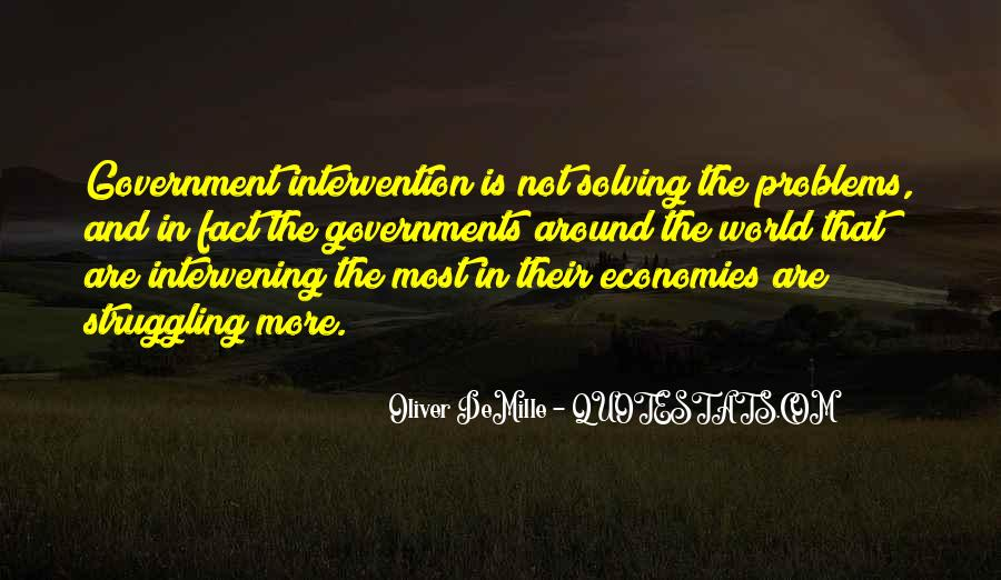 Quotes About Government Intervention #627376
