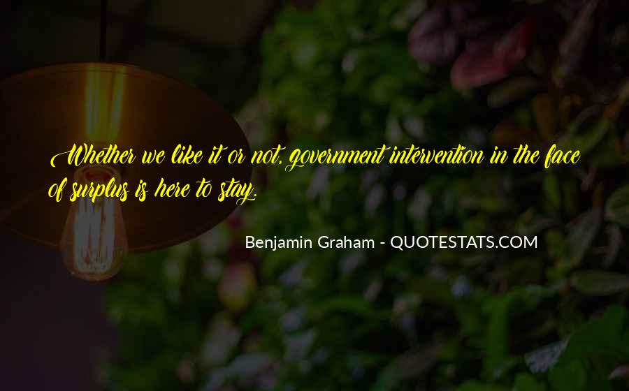 Quotes About Government Intervention #826224