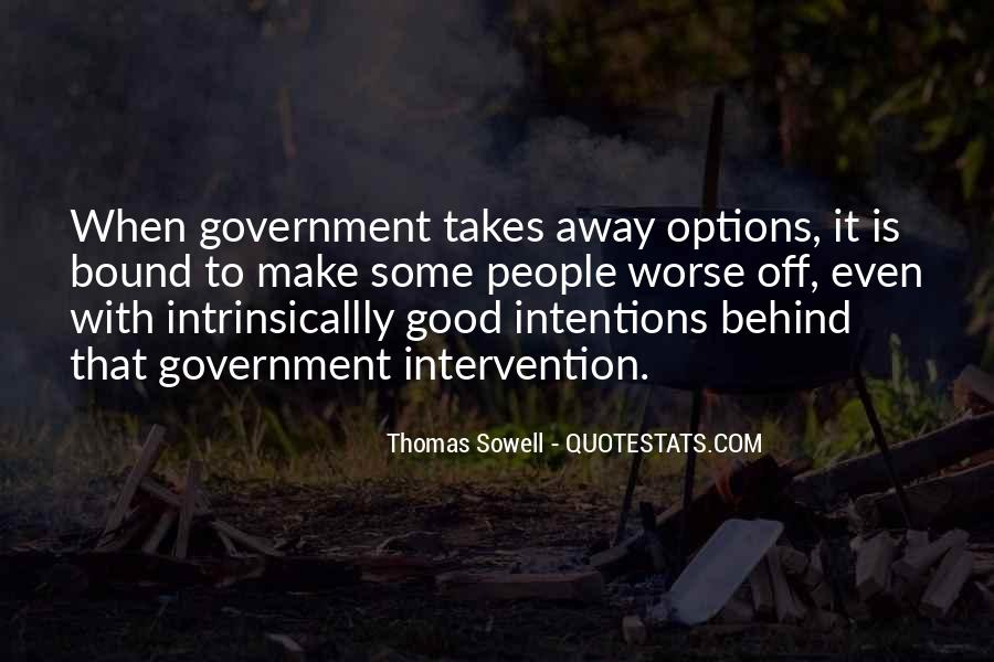 Quotes About Government Intervention #91695