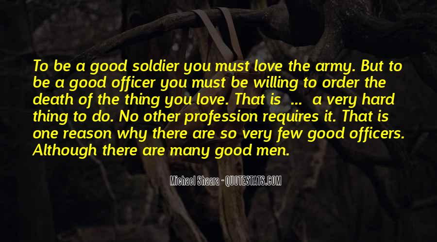 Quotes About Officers In The Army #1494652
