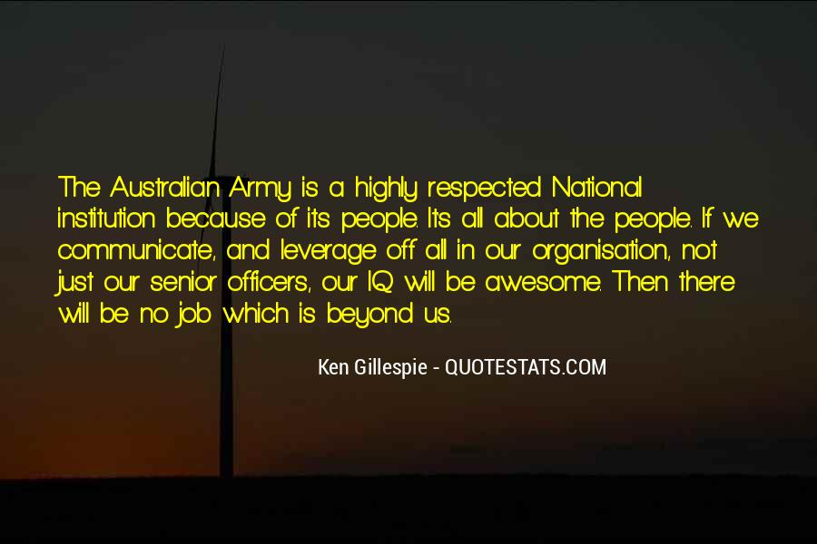 Quotes About Officers In The Army #460936