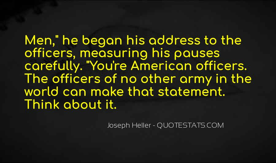 Quotes About Officers In The Army #511788