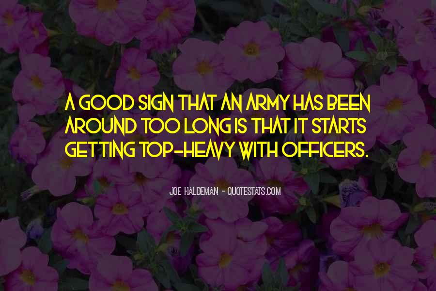 Quotes About Officers In The Army #76042