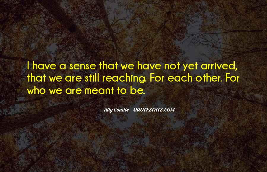 Quotes About We Are Not Meant To Be #80091