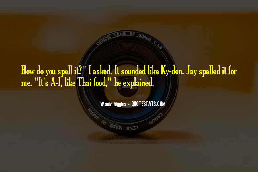 Quotes About Thai Food #1344833