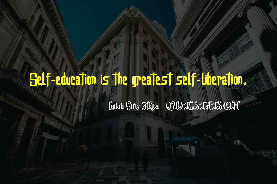 Quotes About Education And Liberation #111179