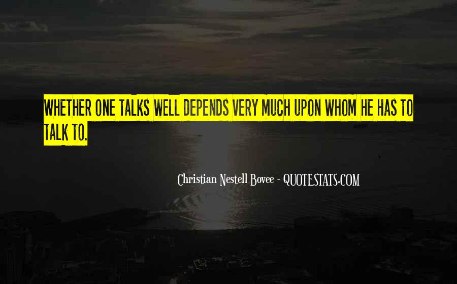 Quotes About Talks #123188