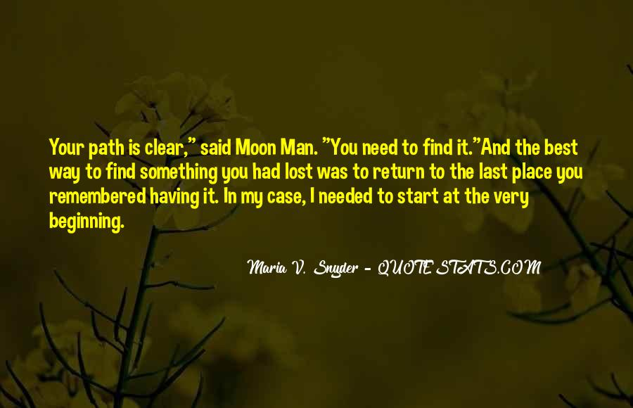 Quotes About The Man In The Moon #888011