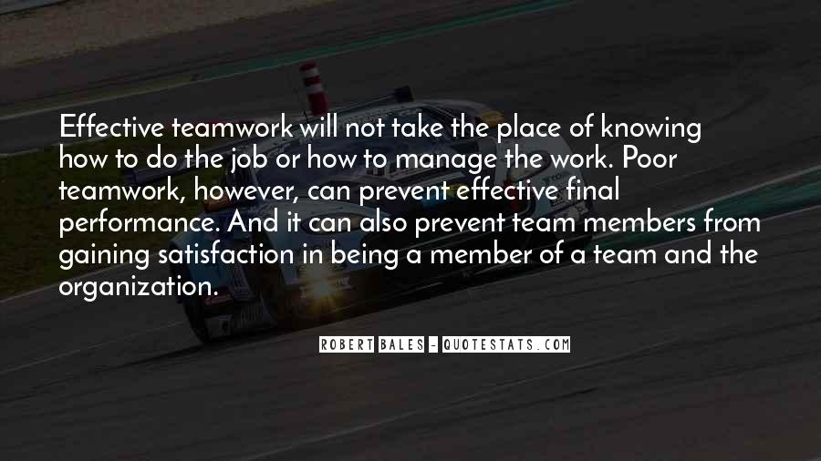 Quotes About Members Of A Team #388106